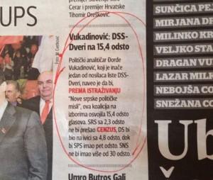 """Deo Zicerovog teksta objavljen u """"Blicu"""", bez navođenja izvora"""