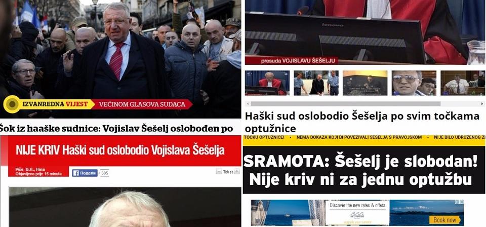 """Reakcije iz sveta na presudu Šešelju: Hrvati zatečeni; Englezi kažu: """"Ćeraćemo se još!"""""""