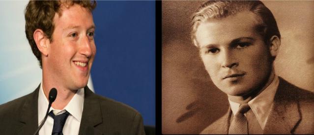 Mark Cukerberg levo i Alija Izetbegović desno. Sličnost je više nego očigledna.