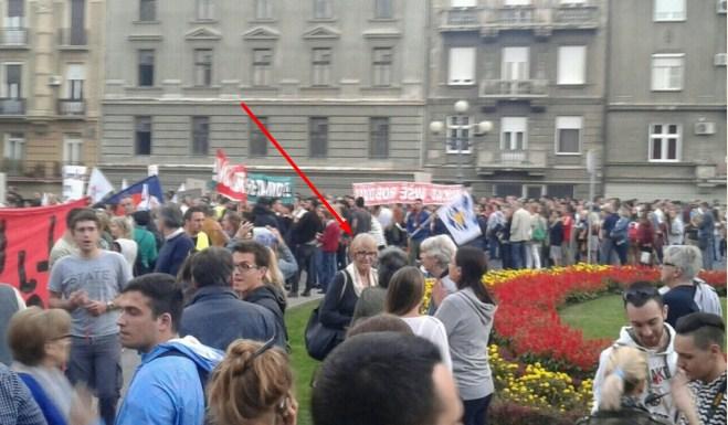"""Lažna Sonja Biserko na protestu """"žute patke"""""""