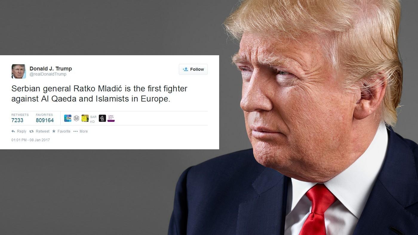 Tramp: Ratko Mladić je prvi borac protiv Islamizma u Evropi!