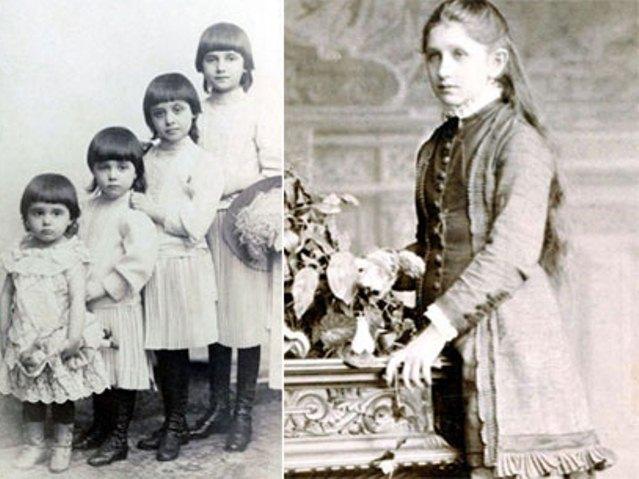 Milka Dunđerski treća s leva na prvoj fotografiji. Na drugoj fotografiji takođe Milka kao devojka.