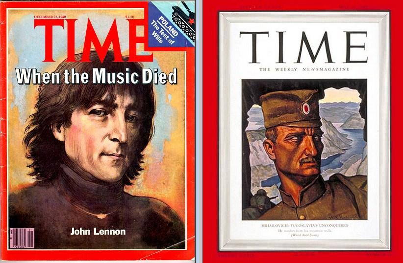 Lenon i Draža na naslovnici magazina TIME, predstaljeni stilom strip junaka